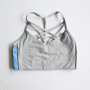 VIctoria's Secret Pink cage sports bra in grey